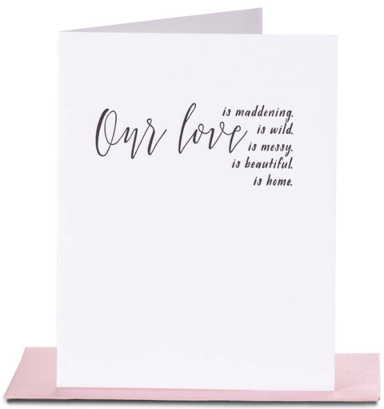 Our Love is... Greeting Card