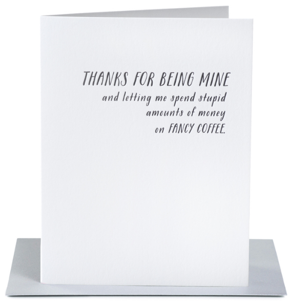 Fancy Coffee Greeting Card