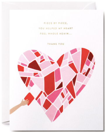 Piece by Piece Heart Greeting Card