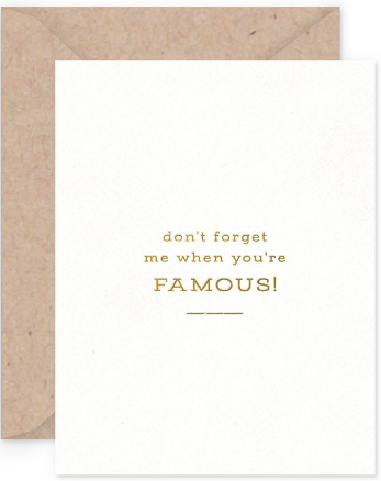 Famous Greeting Card