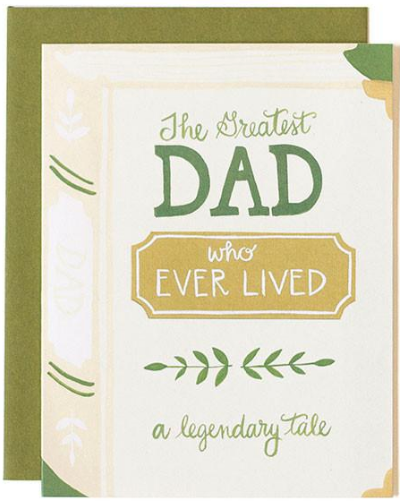 Greatest Dad Book Greeting Card