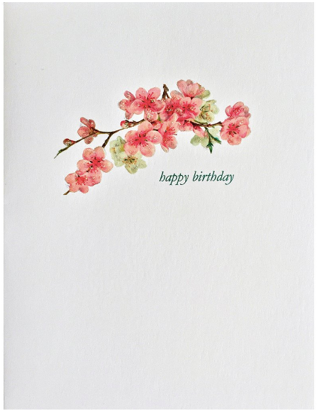 Cherry Blossom Birthday Greeting Card
