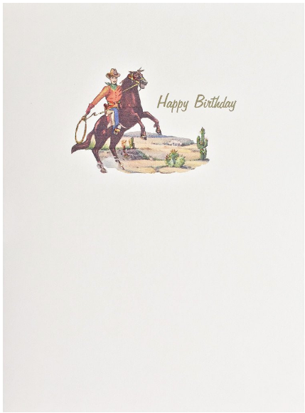 Cowboy Greeting Card