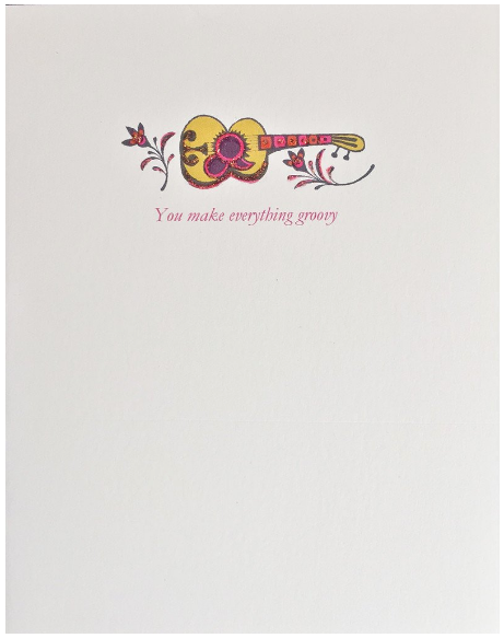 Groovy Guitar Greeting Card