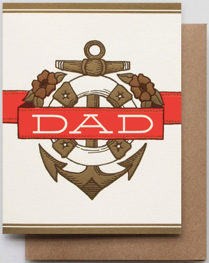 Dad Anchor Greeting Card