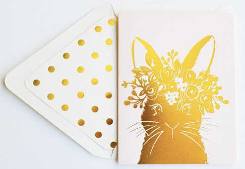 Blush Rabbit Greeting Card