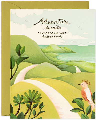 Adventure Awaits Graduation Greeting Card