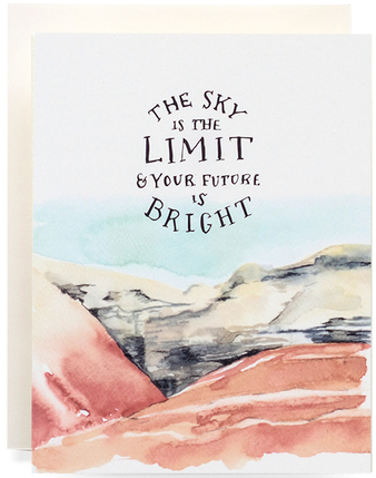 Big Sky, Bright Future Greeting Card