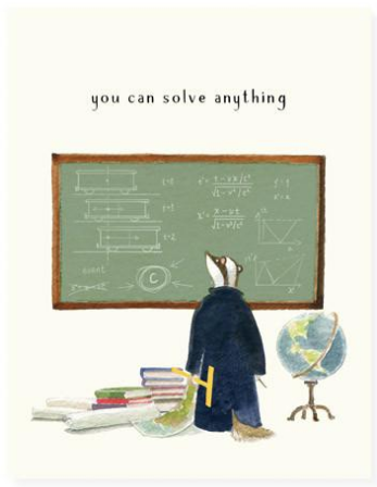 Professor Badger Greeting Card