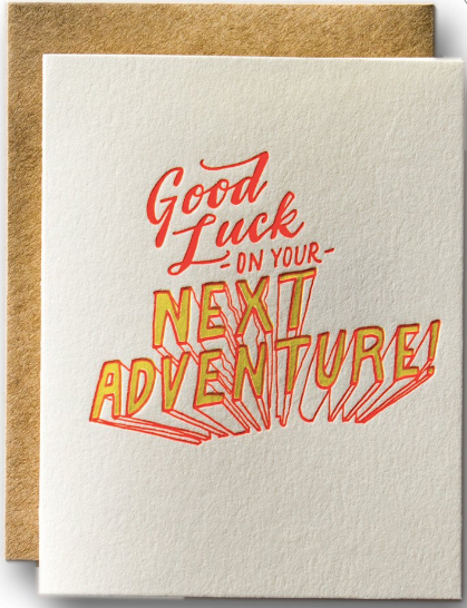 Good Luck on Your Next Adventure Greeting Card