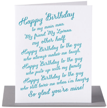 Happy Birthday Lover Rant Greeting Card