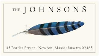 Custom Address Stickers - Blue Jay