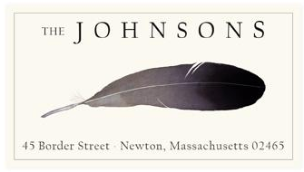 Custom Address Stickers - Bald Eagle Feather