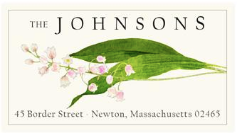 Custom Address Stickers - Blush Lily