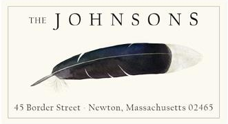 Custom Address Stickers - White-tipped Feather