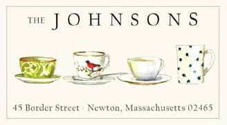 Custom Address Stickers - Porcelain Cups