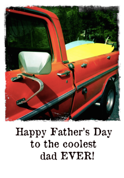 Happy Father's Day Coolest Dad Greeting Card