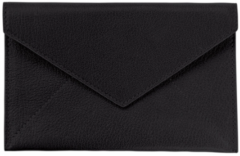 Black Goatskin Leather Pouch