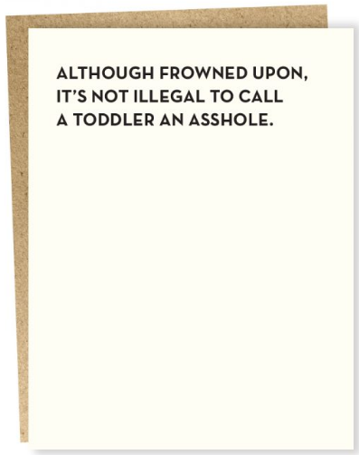 Toddler Greeting Card