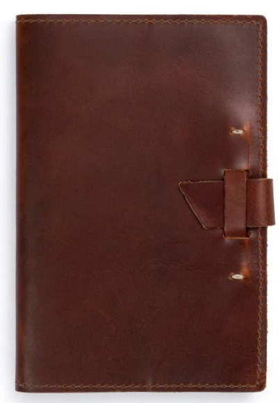 Large Refillable Leather Notebook 9