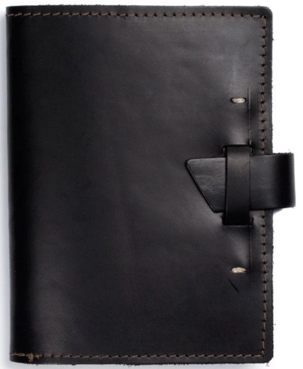 Refillable Top Grain Leather Notebook 5 1/2