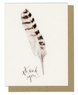 Thank You Feather Greeting Card