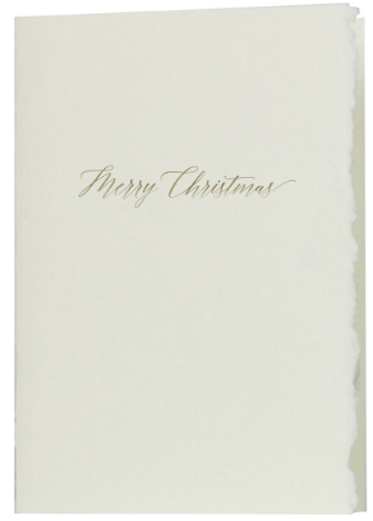 Glimmer Merry Christmas Greeting Card