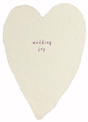 Wedding Joy Heart Greeting Card