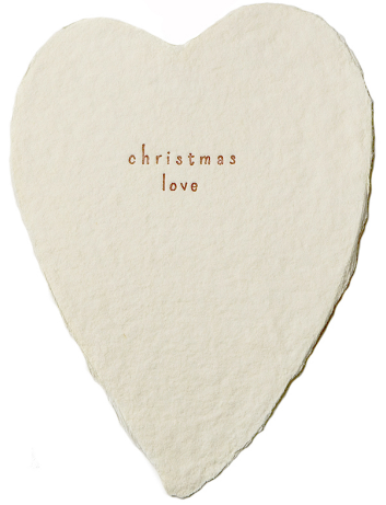 Christmas Love Heart Greeting Card