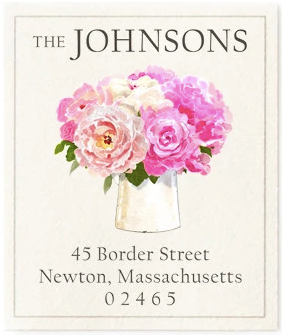 Custom Address Stickers - Pretty Peonies