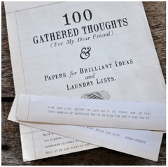 100 Gathered Thoughts