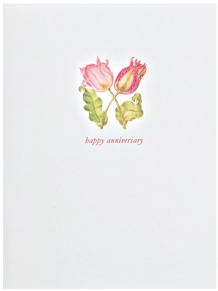 Tulips Anniversary Greeting Card