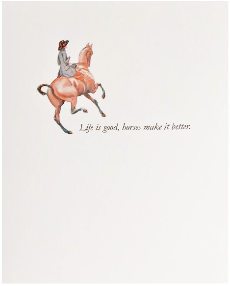 Horse Lover Greeting Card