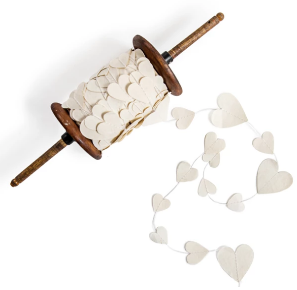 Paper Heart Garland - 27 yards