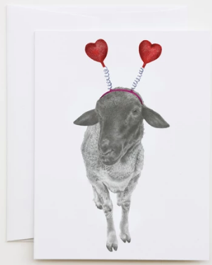 Beau Merci Sheep Greeting Card