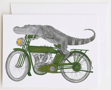 Charlie Bonaventure Alligator Greeting Card