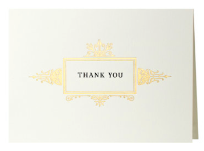 Ornate Gold Border Thank You Boxed Set