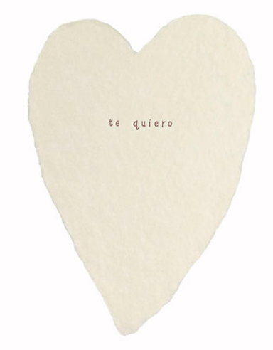 Te Quiero Heart Greeting Card