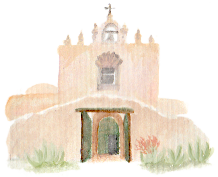 Santa Barbara St. Carmel Church downloadable artwork