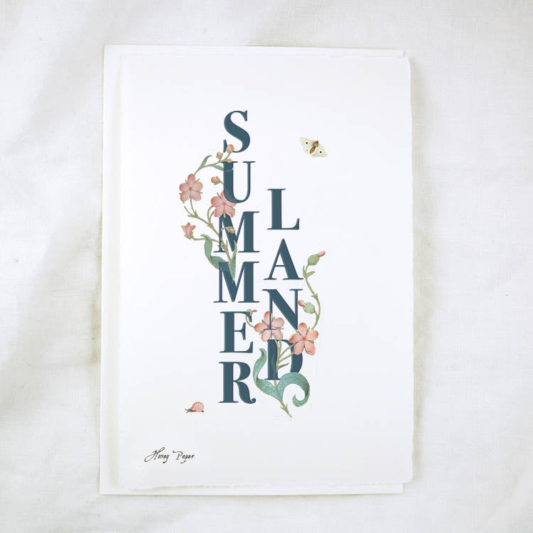 Honey Paper Floral Text Summerland