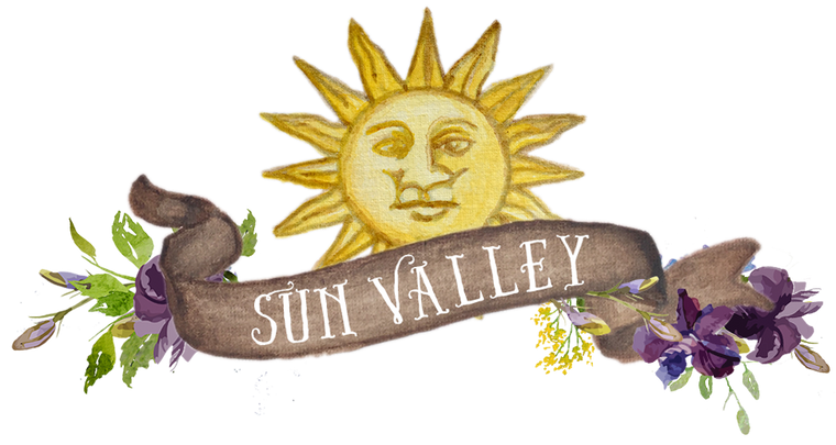 Sun Valley Banner Purple Flowers downloadable artwork