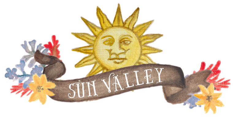 Sun Valley Banner Wildflowers downloadable artwork