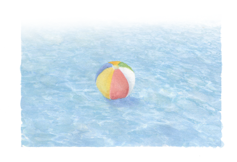 Swimming Pool with Ball downloadable artwork