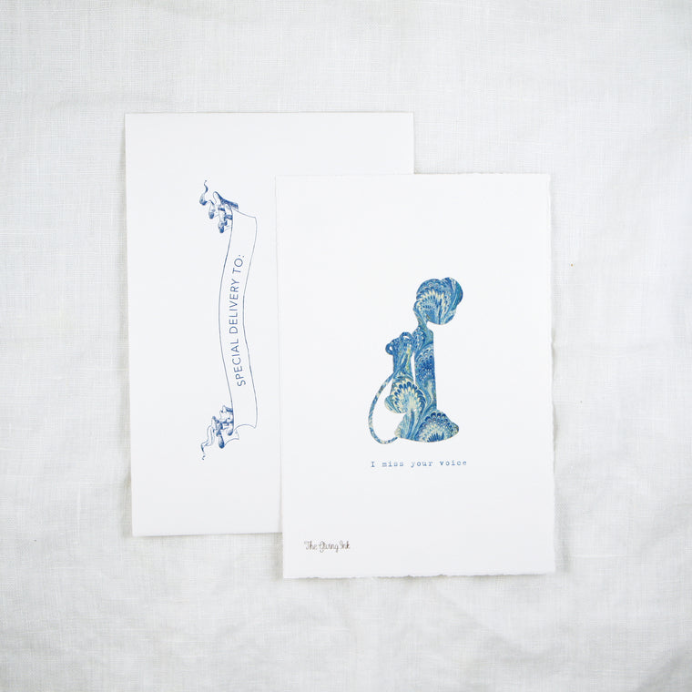 Silhouette Telephone Greeting Card