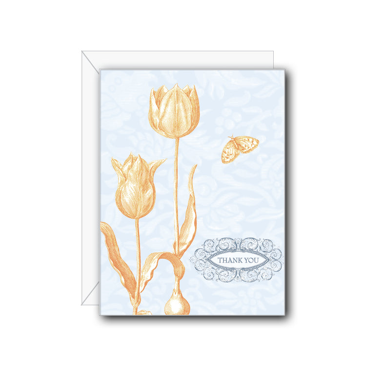 Tulip Thank You Greeting Card - NOW 40% OFF