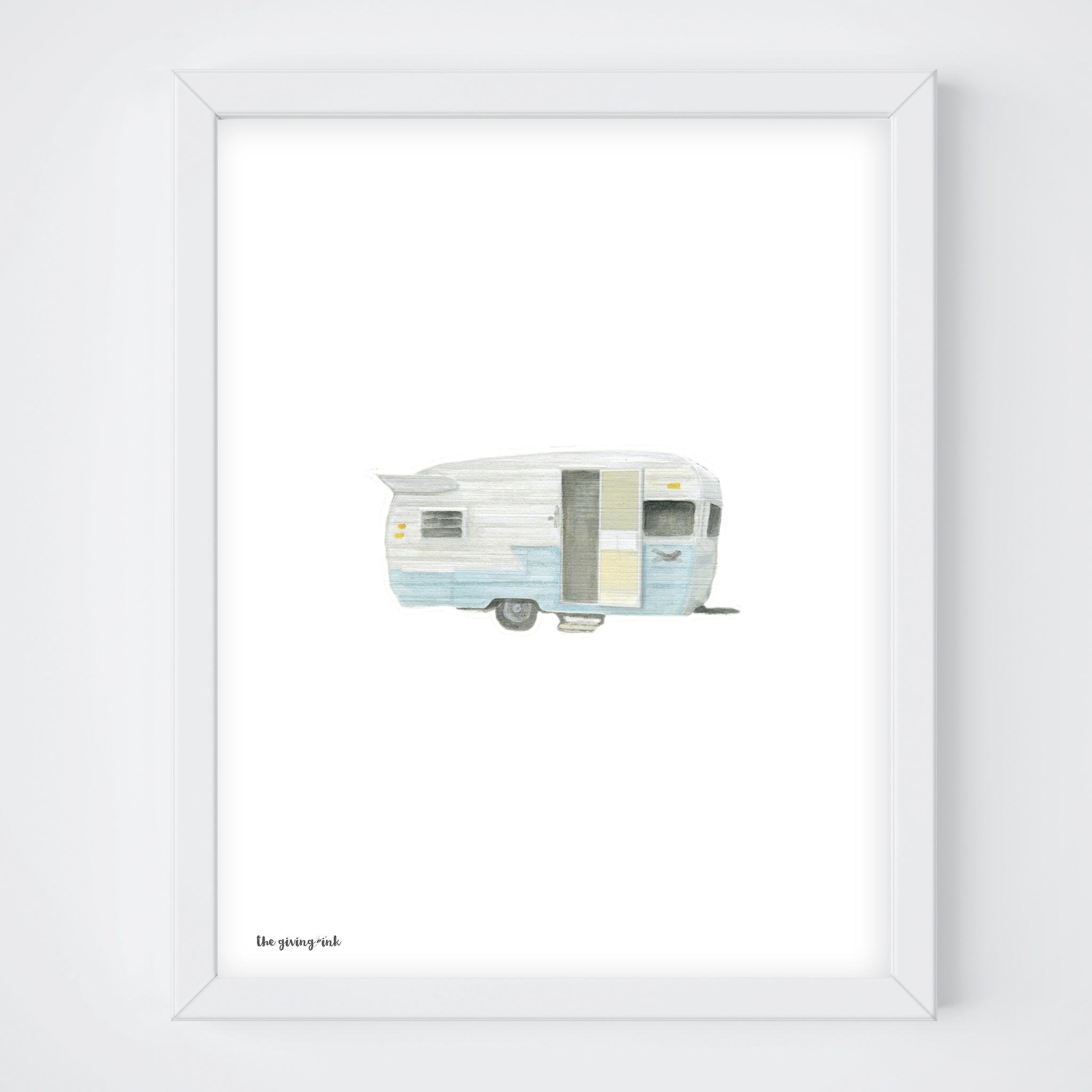 Vintage Trailer Watercolor Print