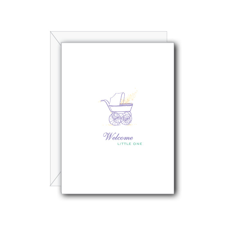 Welcome Little One Greeting Card - NOW 40% OFF