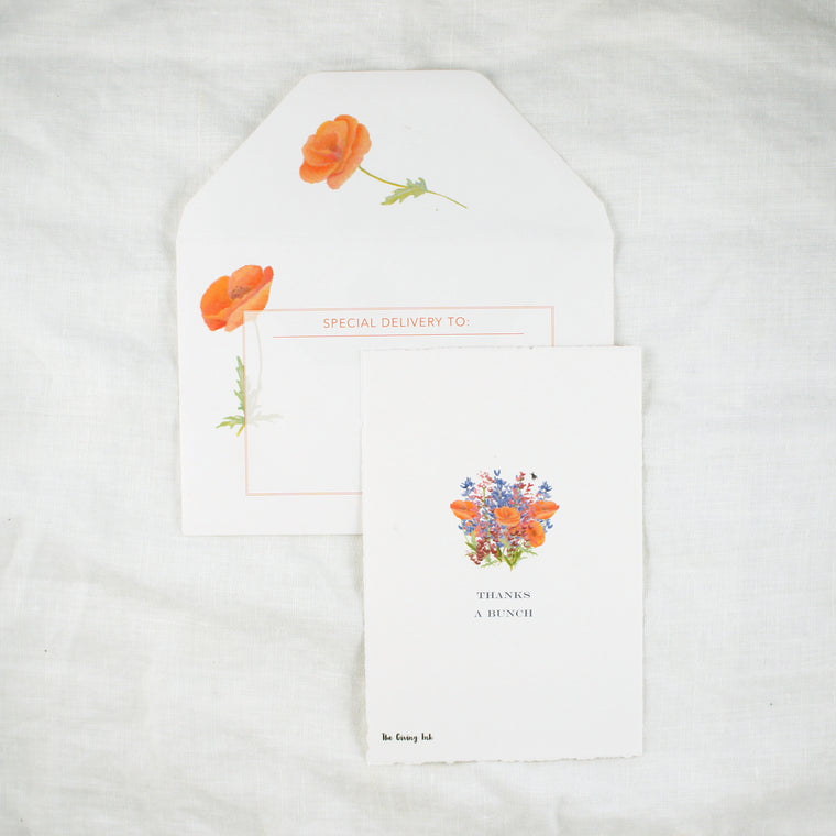 Wildflower Thank You Greeting Card