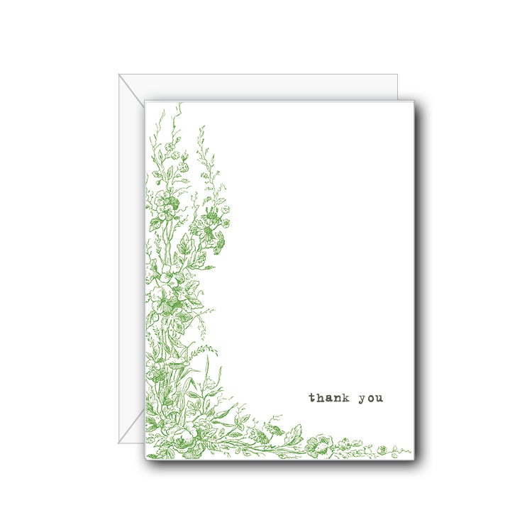 Wildflowers Thank You Greeting Card - NOW 40% OFF
