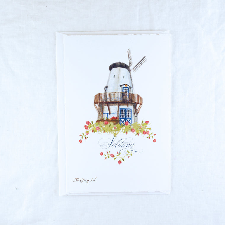 Solvang Windmill Greeting Card